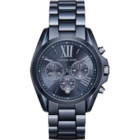 Michael Kors MK 羅馬假期三眼計時腕錶-藍/43mm MK6248