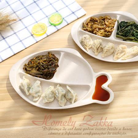 【Homely Zakka】麥趣食光健康環保小麥魚型分隔餐盤 (小麥原色)