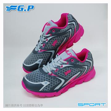 ~G.P 輕量 鞋~P7619W~45 桃紅色  SIZE:36~40 共三色