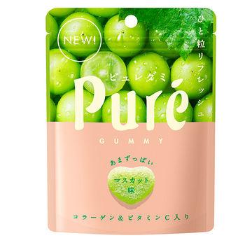 日本甘樂鮮果實軟糖-白葡萄45.5g
