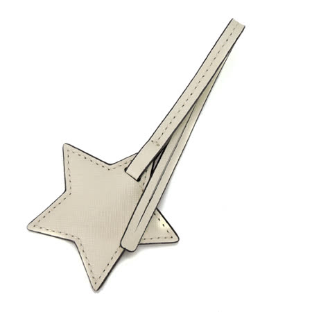 MICHAEL KORS 防刮皮革星星禮盒吊飾(米白)