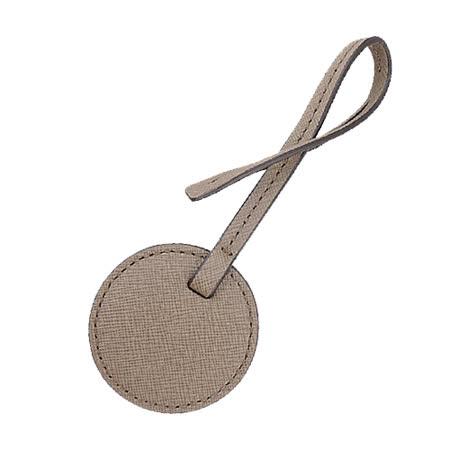 MICHAEL KORS 防刮牛皮圈圈吊飾(中-奶茶)