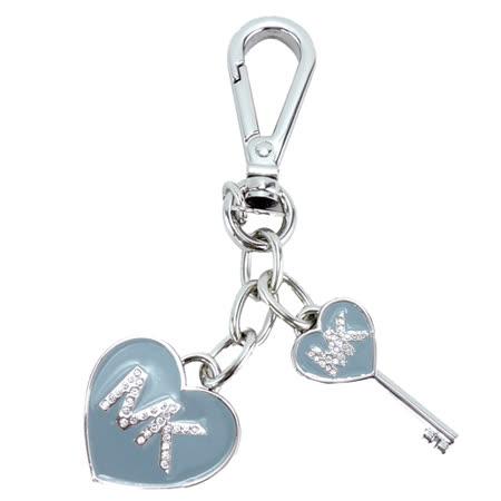 【真心勸敗】gohappy線上購物MICHAEL KORS 晶鑽MK愛心吊飾鑰匙圈(粉藍x銀)好用嗎sogo 復興 館