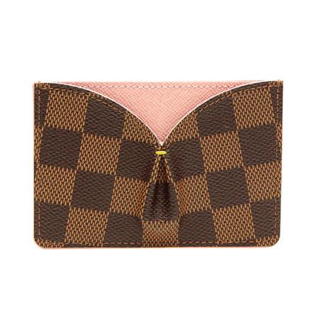 Louis Vuitton LV N61222 CAISSA 棋盤格紋信用卡名片夾.粉_預購