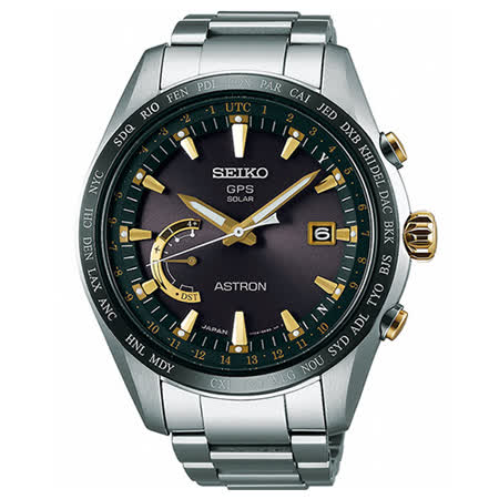 SEIKO 精工 ASTRON 鈦金屬GPS系列太陽能時尚腕錶/44.8mm/8X22-0AG0K