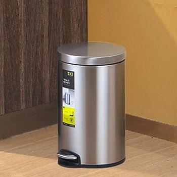 EKO心悅靜音緩降垃圾桶8L-砂鋼