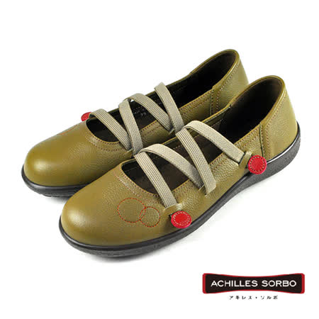 【Achilles SORBO】休閒芭蕾舞鞋 芥末色(SRL1640-OL)