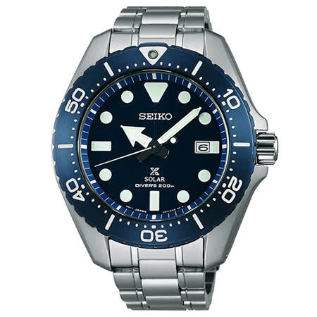 【SEIKO 精工】Prospex SCUBA 太陽能藍水鬼鈦潛水錶(44mm/V157-0BN0B)