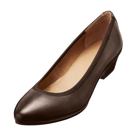 【Kimo德國品牌手工氣墊鞋】氣質真皮淑女鞋‧牛皮‧橡膠底(沉穩咖D5415WF003018)
