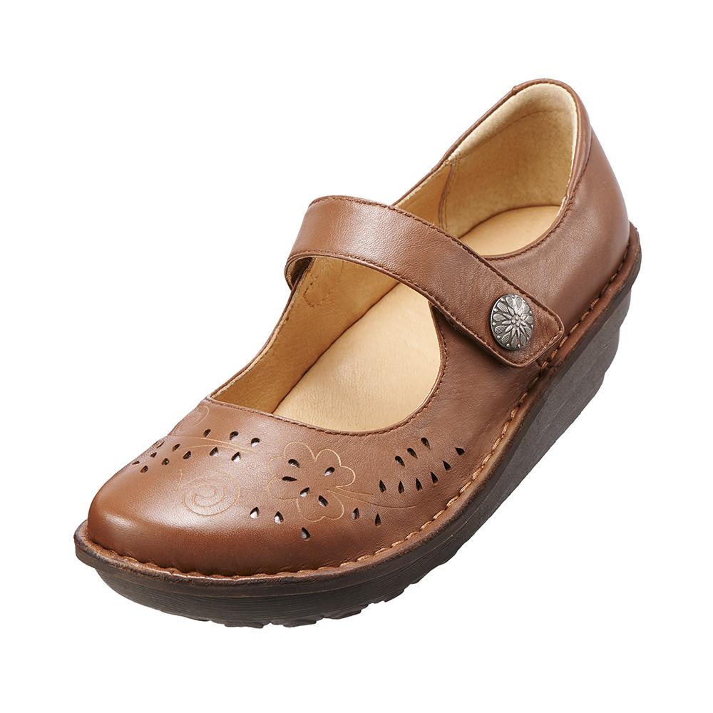 【Kimo德國品牌手工氣墊鞋】減壓典雅厚底手縫鞋牛皮‧手縫鞋‧舒適寬楦(風情棕K15WF011585)