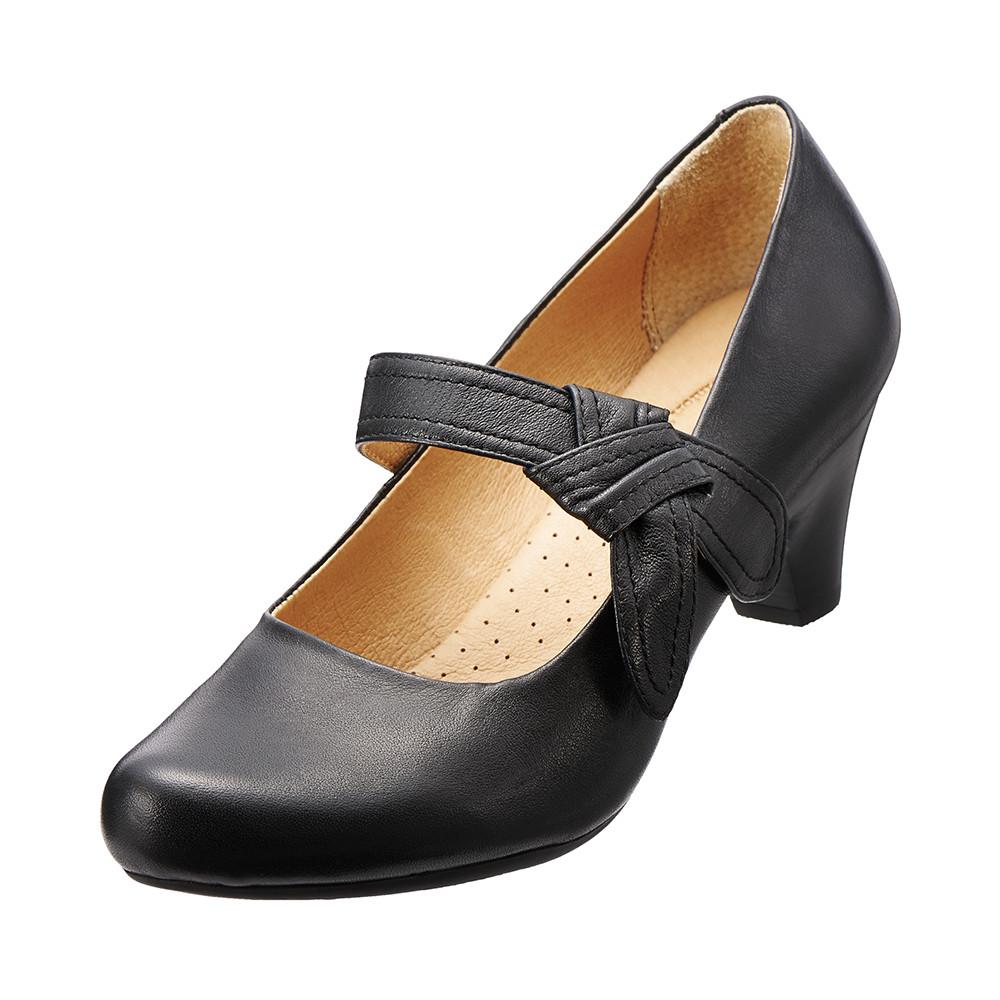 【Kimo德國品牌手工氣墊鞋】城市氣質高跟鞋.真皮.牛皮.高跟(個性黑K15WF032413)
