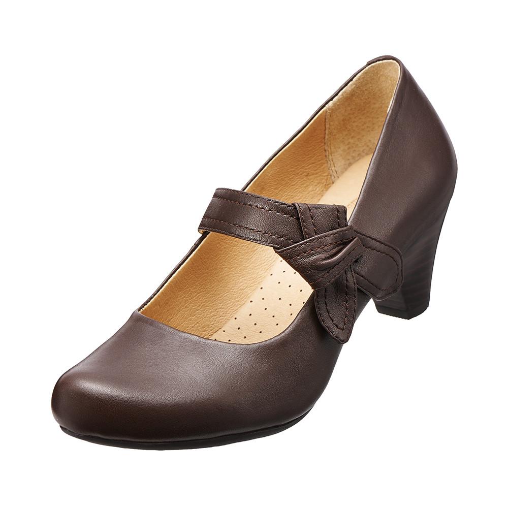 【Kimo德國品牌手工氣墊鞋】城市氣質高跟鞋.真皮.牛皮.高跟(沉穩咖K15WF032418)