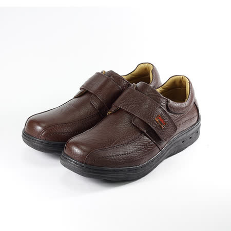 (男) BONJO 黏帶氣墊休閒鞋 咖 鞋全家福