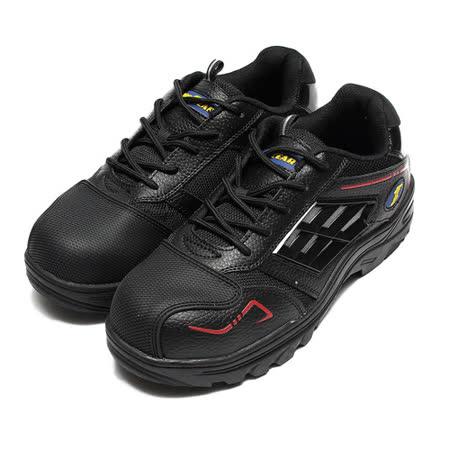 (男) GOODYEAR 綁帶鋼頭鞋 黑紅 鞋全家福