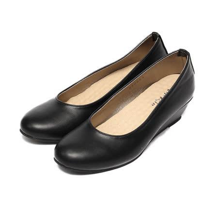 (女) Rin Rin 素面楔形鞋 黑 鞋全家福
