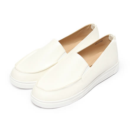 (女) 韓版套式休閒鞋 白 鞋全家福