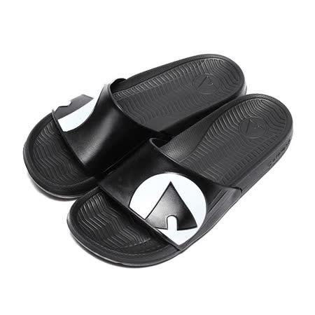 (男) AIRWALK 超輕量一字拖 白黑 鞋全家福
