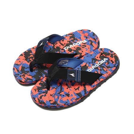 (男) DIADORA 迷彩運動排水夾腳拖鞋 黑 鞋全家福