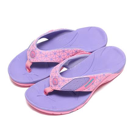 (女) DIADORA 夾腳運動拖鞋 粉紫 鞋全家福