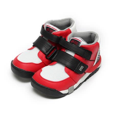 (中大童) MOONSTAR CARROT矯正鞋 紅黑 鞋全家福