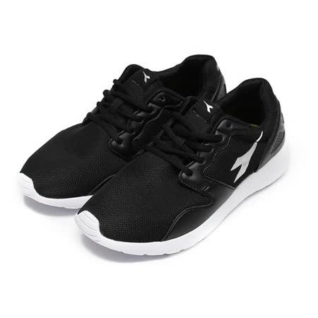 (男) DIADORA DA3310 休閒輕量慢跑鞋 黑 鞋全家福
