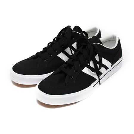 (男) ADIDAS GVP CAVAS STR 復古網球鞋 黑白 鞋全家福