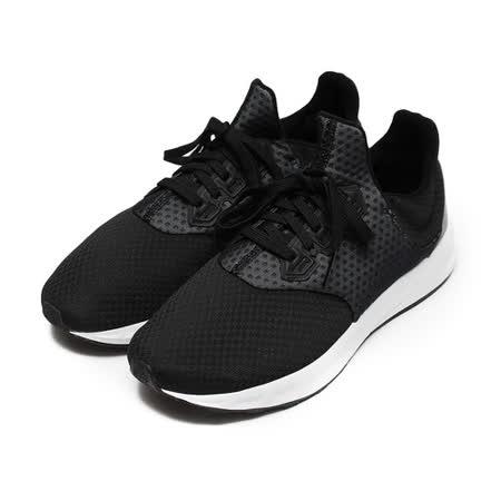 (男) ADIDAS FALCON ELITE 5 W TEXTILE 套式Q彈跑鞋 黑白 鞋全家福