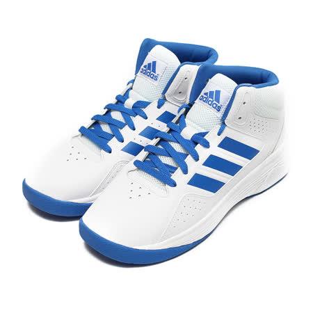 (男) ADIDAS CLOUDFOAM ILATION 高筒Q彈避震籃球鞋 白藍 鞋全家福