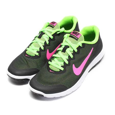 (女) NIKE WMS FLEX EXPERIENCE RN 4 輕量透氣跑鞋 黑粉綠 鞋全家福