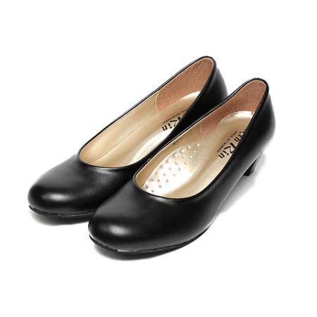 (女) Rin Rin 素面低跟上班鞋 黑 鞋全家福