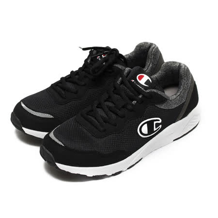 (男) CHAMPION 拚色休閒運動鞋 黑白 鞋全家福