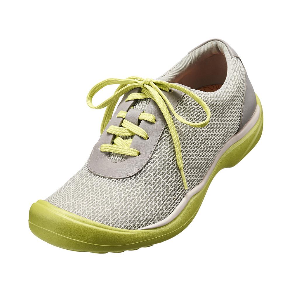 ~Kimo德國 氣墊鞋~牛皮網布輕量休閒鞋.牛皮. 風.彈力^(活力綠K15WF07306