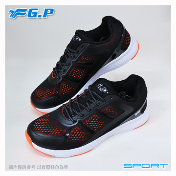 ~G.P 輕量 鞋~P7618M~19 黑橘色 ^(SIZE:39~44 共三色^)