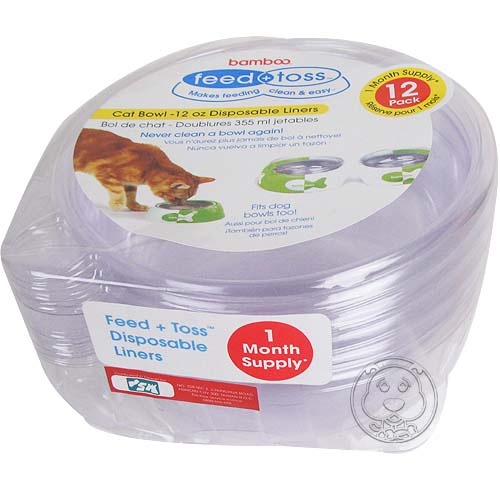 bomboo~犬貓用可換洗塑膠透明碗 ^(L^)6入^~2