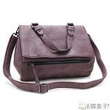 【法國盒子】仲夏物語拉鍊三用包(紫色)H292
