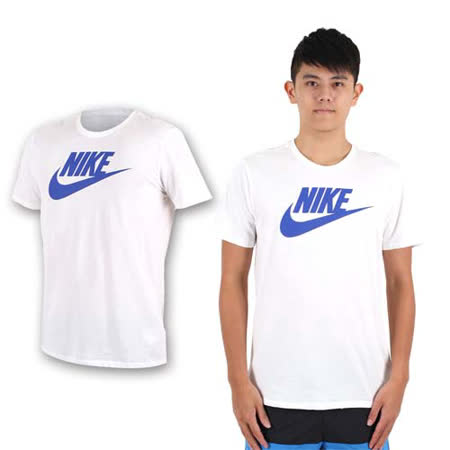 (男) NIKE 短袖針織衫 -慢跑 路跑 T恤 短T 白寶藍