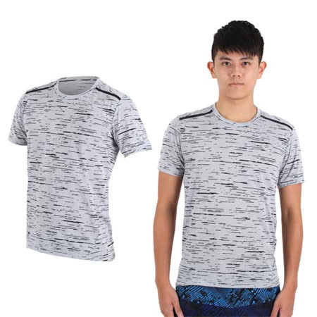 (男) NIKE 短袖針織衫 - 慢跑 路跑 T恤 短T 淺灰黑