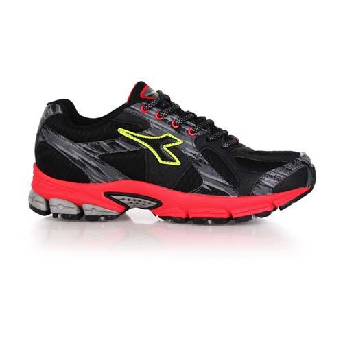^(男^) DIADORA MIT 跑鞋 ~路跑 慢跑 黑綠紅