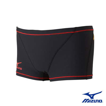 (男) MIZUNO SWIM EXER SUITS 四角泳褲 - 游泳 美津濃 紅黑