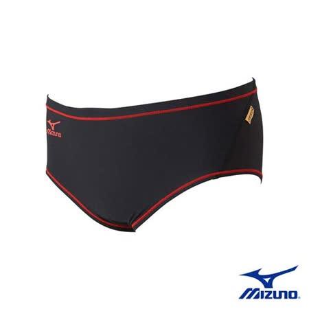 (男) MIZUNO SWIM EXER SUITS 三角泳褲 - 游泳 美津濃 紅黑