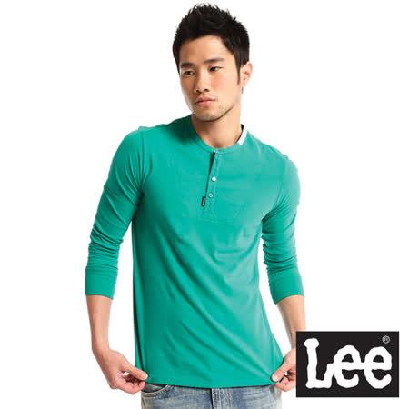 Lee 半開襟長袖T恤-男款(綠)