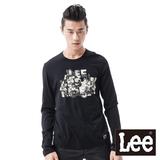 Lee 長袖T恤 復古照片印花-男款(黑)