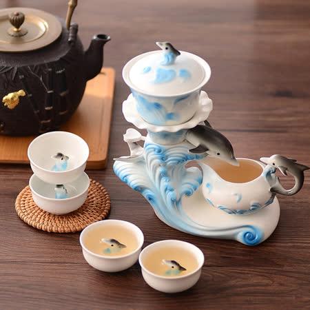 【勸敗】gohappy線上購物【The simple Life 】乘風破浪海豚造型茶具七件組評價怎樣大 遠 百 影 城