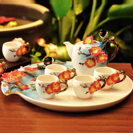 【好物分享】gohappy快樂購物網【The simple Life 】喜上梅梢茶具八件組價錢太平洋 sogo 百貨 公司