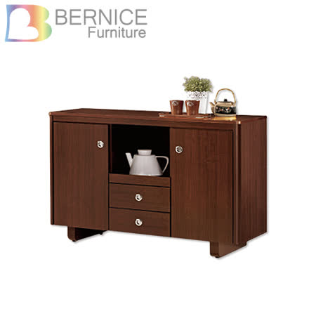 Bernice-泰德4尺碗盤收納餐櫃