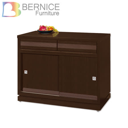Bernice-斯坦3尺推門碗盤收納餐櫃
