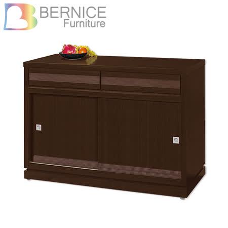 Bernice-斯坦4尺推門碗盤收納餐櫃