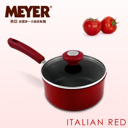 【MEYER】美國美亞義大利紅耐磨不沾單柄湯鍋16CM(含蓋)