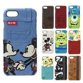 日本 PGA-iJacket UNISTYLE Disney皮革背蓋口袋造型系列iPHONE7硬殼 保護殼