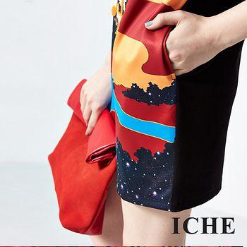ICHE 衣哲 個性印花造型洋裝